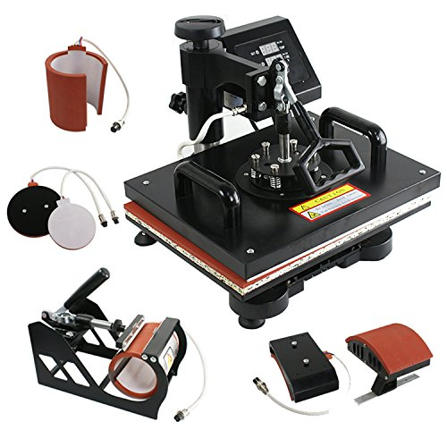 16x20 Digital Heat Press Machine Heat Sublimation Transfer Teflon Coated Non-Stick Platen LCD Display Removable High Temperature Silicone Pad Digital Timer Temperature Control US Delivery 16x20